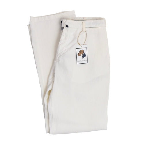 Incotex Linen Pants Size 50 - White