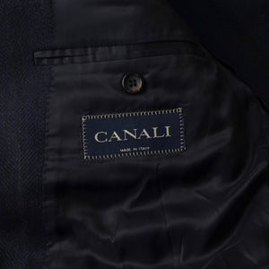 Canali 100% Cashmere Jacket Size 56 - Navy Windowpane