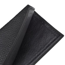 Load image into Gallery viewer, Pebble Grain Leather Passport Case/Wallet - Black