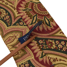 Load image into Gallery viewer, Prokop Paisley Silk Tie - Butter Yellow & Green