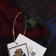 Load image into Gallery viewer, Drake's London Ancient Madder Silk & Cashmere/Wool Dress Scarf - Paisley