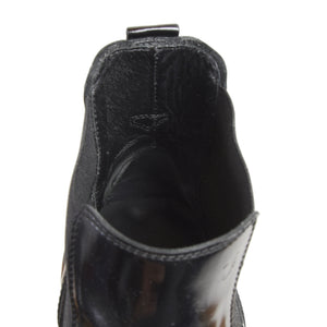 Tod's Patent Leather Chelsea Boots Size 9 - Black