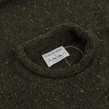 Load image into Gallery viewer, Rossan Donegal Irish Wool Sweater Size - Flecked Green