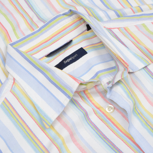 Zegna Sport Shirt Size L  - Summer Stripes