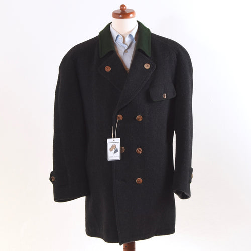 Lodenfrey Wool Blend Schladminger Coat - Charcoal