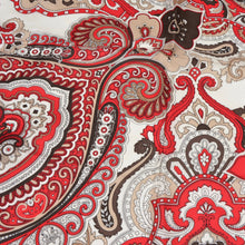 Load image into Gallery viewer, Passigatti Handrolled Silk Pocket Square - Red Paisley