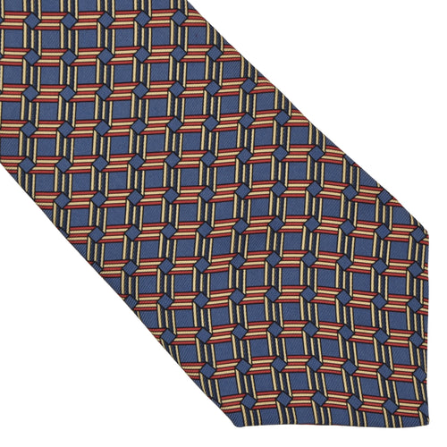 Country Life Silk Tie - Blue & Red