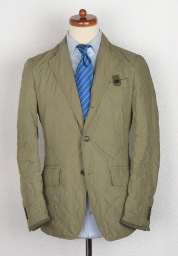 Fay Quilted Jacket-Blazer Size S - Olive/Beige