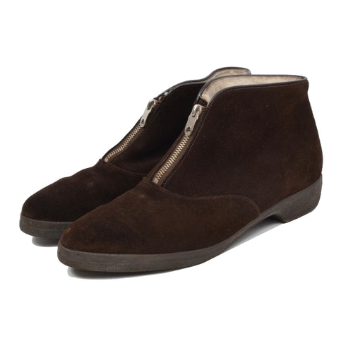 Morlands Shearling-Lined Suede Boots Size 8 - Brown