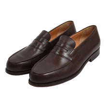 Load image into Gallery viewer, Christian Pellet Leather Loafers Size 10 - Brown