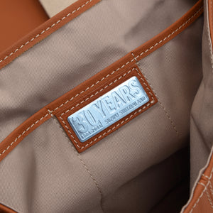 Suzuki Switzerland 30th Anniversary Leather Messenger Bag - Tan