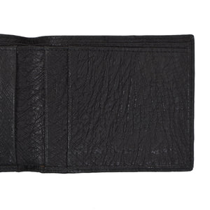 Ostrich Leather Billfold/Wallet - Black