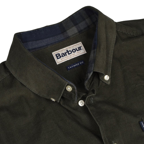 Classic Corduroy Barbour Shirt Size XL/L  - Green