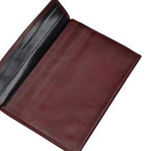 Load image into Gallery viewer, Leather Passport Case/Wallet With Pockets - Burgundy