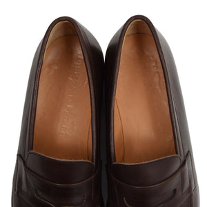 Christian Pellet Leather Loafers Size 10 - Brown