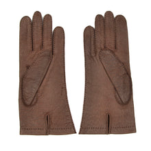 Load image into Gallery viewer, Unlined Peccary Gloves Size 8 1/2 - Dark Brown