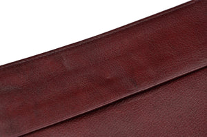 Leather Passport Case/Wallet With Pockets - Burgundy