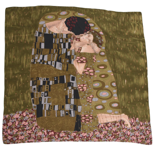 Gustav Klimt Silk Scarf - The Kiss