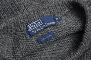 Vintage Polo Ralph Lauren Chunky Knit Sweater Size XL - Grey