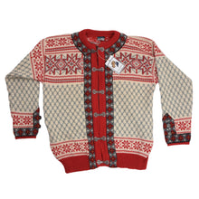 Load image into Gallery viewer, Dale of Norway Wool Cardigan Sweater - Snowflakes