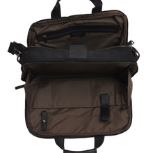 Load image into Gallery viewer, Mandarina Duck Nylon & Leather Laptop Bag - Black