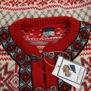 Dale of Norway Wool Cardigan Sweater - Snowflakes
