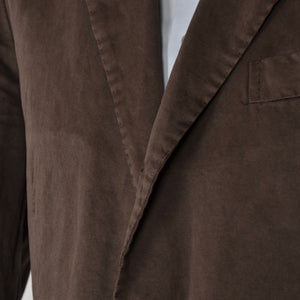 Boglioli COAT Linen/Cotton Jacket Size 52 - Brown