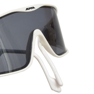 Vintage Alpina Swing Shield Sunglasses - White