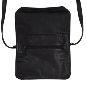 Vimar Paris Lightweight Leather Bag - Black