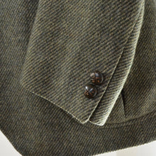 Load image into Gallery viewer, DAKS London Shetland Wool Tweed Jacket Size 52 - Green