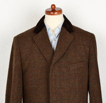 Load image into Gallery viewer, DAKS London Tweed Chesterfield Overcoat Size 54 - Brown