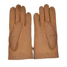 Load image into Gallery viewer, Unlined Peccary Gloves Size 8 1/2 - Tan