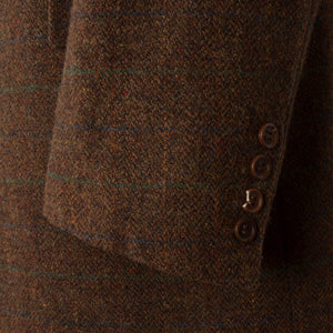 DAKS London Tweed Chesterfield Overcoat Size 54 - Brown