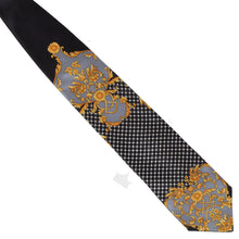 Load image into Gallery viewer, Vintage Gianni Versace Barocco Silk Tie - Black/Gold