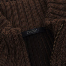 Load image into Gallery viewer, Ermenegildo Zegna Sport Wool Zip Cardigan Sweater Size M - Brown
