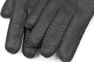 Wool-Lined Peccary Gloves Size 8 1/4 - Anthracite