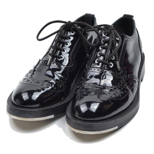 Kris van Assche Patent Leather Shoes Brogues Plus Size 40 - Black