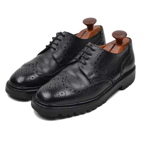 Ludwig Reiter Pebble Grain Shoes Size 7 - Black