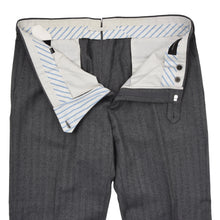 Load image into Gallery viewer, Ermenegildo Zegna Herringbone Wool Pants Size 56 - Grey