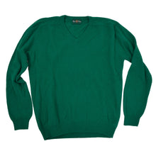 "Load image into Gallery viewer, Alan Paine England V-Neck Sweater Size UK 46""/117cm EUR 54 - Green"