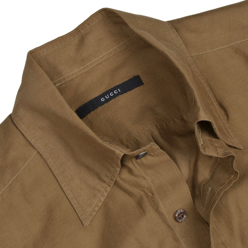 Gucci Lightweight Shirt Size 39/15.5  - Tan/Brown