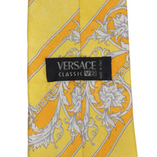 Load image into Gallery viewer, Vintage V2 Versace Silk Tie - Yellow