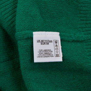 "Alan Paine England V-Neck Sweater Size UK 46""/117cm EUR 54 - Green"
