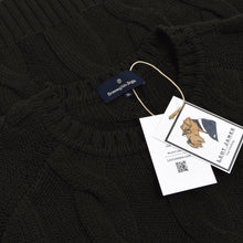 Load image into Gallery viewer, Ermenegildo Zegna Thick Cableknit Wool Sweater Size XL - Dark Green