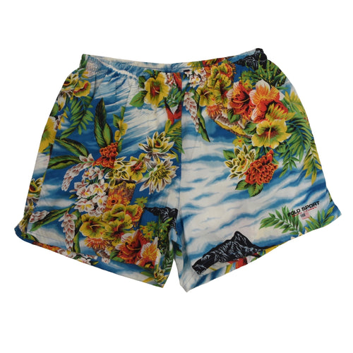 Vintage Polo Sport Swim Trunks Size L - Hawaiian Print