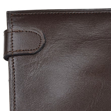 Load image into Gallery viewer, Snap-Closed Leather Passport Case/Wallet - Chocolate Brown
