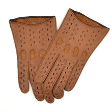 Load image into Gallery viewer, Unlined Peccary Driving Gloves Size 8 - Tan