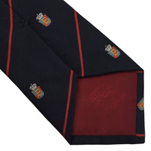 Load image into Gallery viewer, Burberrys Silk Tie - Navy Crest