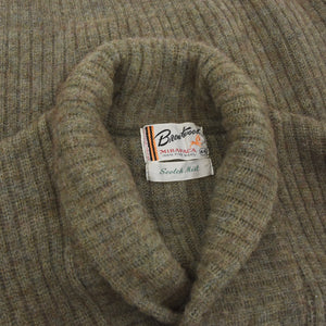 Vintage Brentwood Shawl Collar Wool Sweater Size US/UK 44 - Moss Green