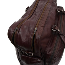 Load image into Gallery viewer, Vintage Leather Holdall Bag - Burgundy